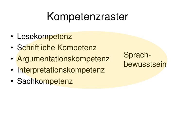 Kompetenzraster