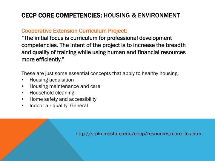 CECP Core Competencies: