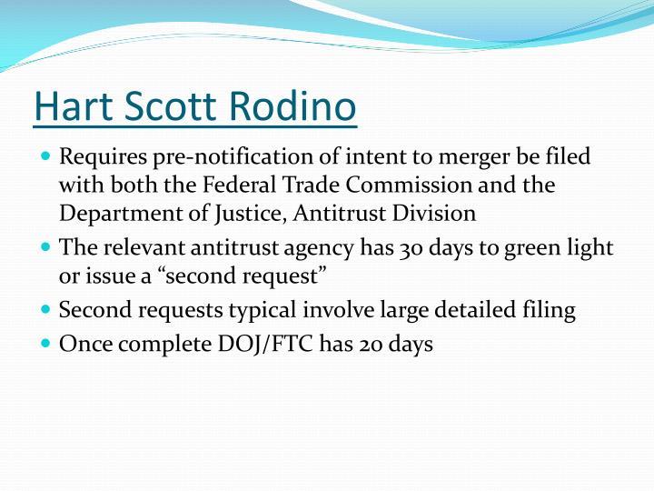 Hart Scott Rodino