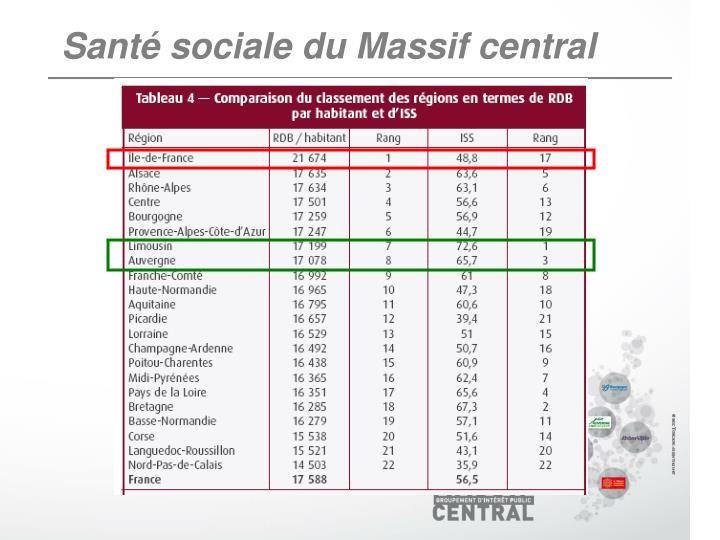 Santé sociale du Massif central