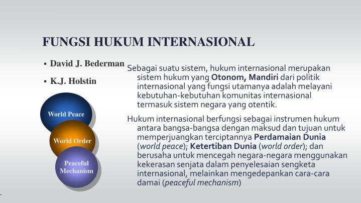 Sebagai suatu sistem, hukum internasional merupakan sistem hukum yang