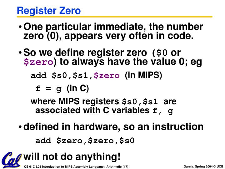 Register Zero