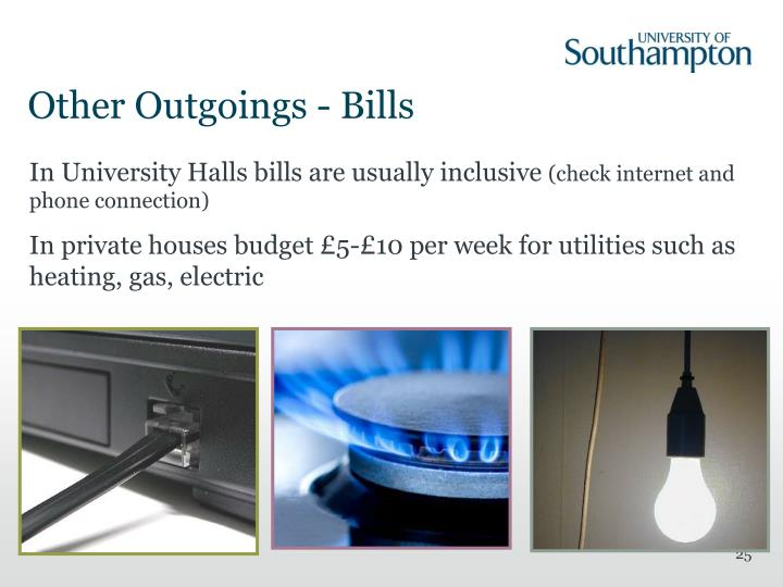 Other Outgoings - Bills