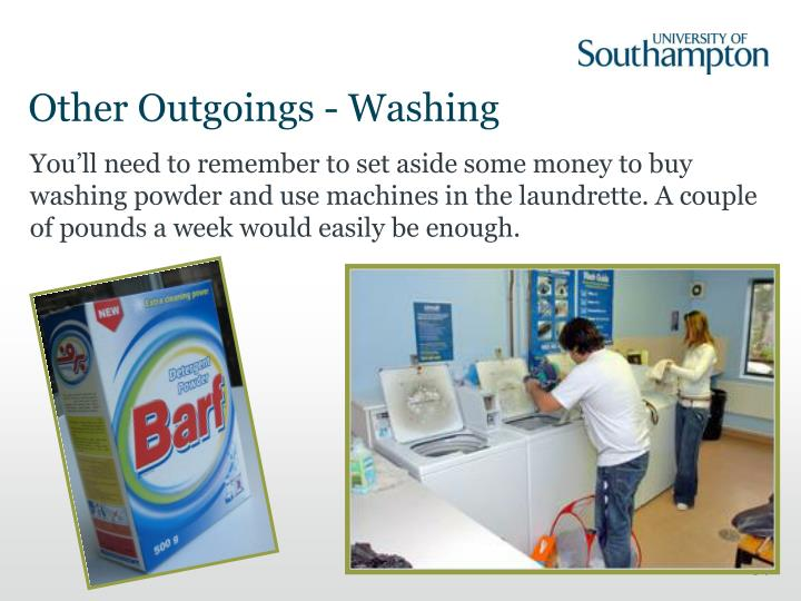 Other Outgoings - Washing