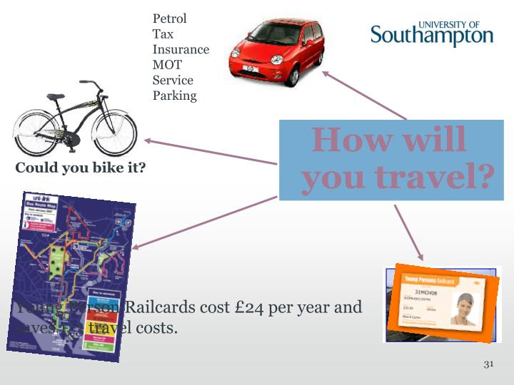 Young Person Railcards cost £24 per year and saves 1/3 travel costs.