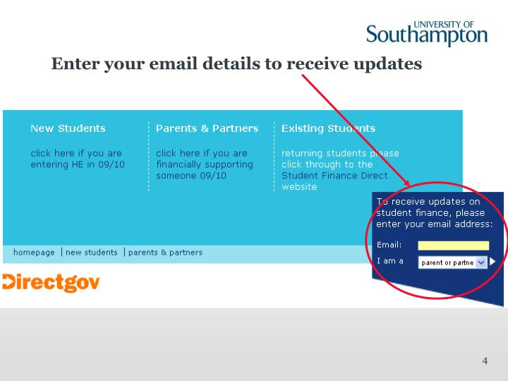 Enter your email details to receive updates