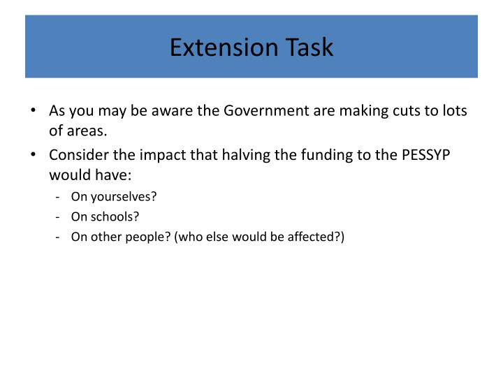 Extension Task