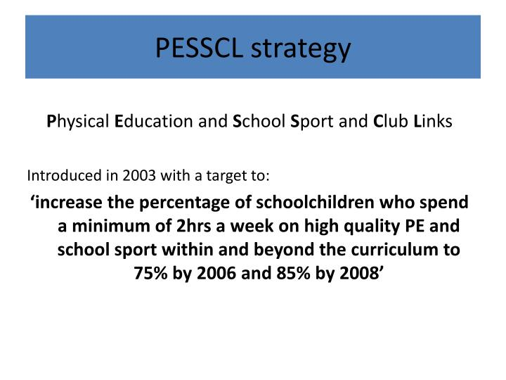 PESSCL strategy