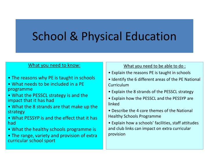School physical education