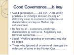 good governance is key