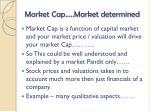 market cap market determined