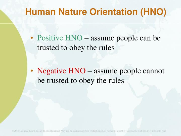 Human Nature Orientation (HNO)