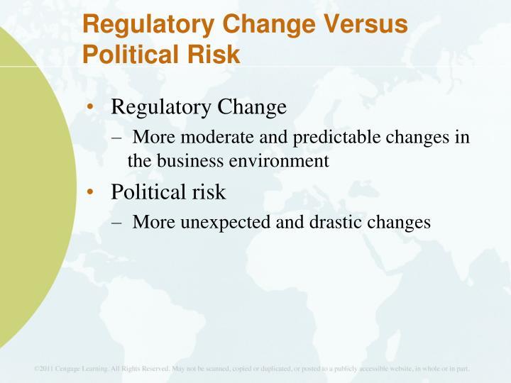 Regulatory Change Versus Political Risk