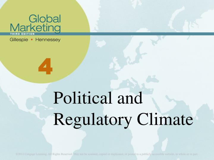 Political and regulatory climate