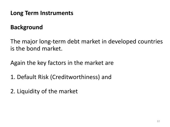 Long Term Instruments