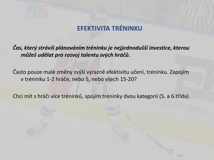 EFEKTIVITA TRÉNINKU