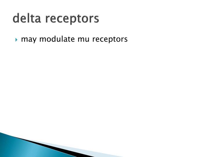 delta receptors