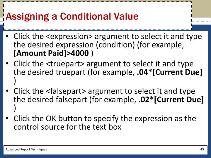 Assigning a Conditional Value