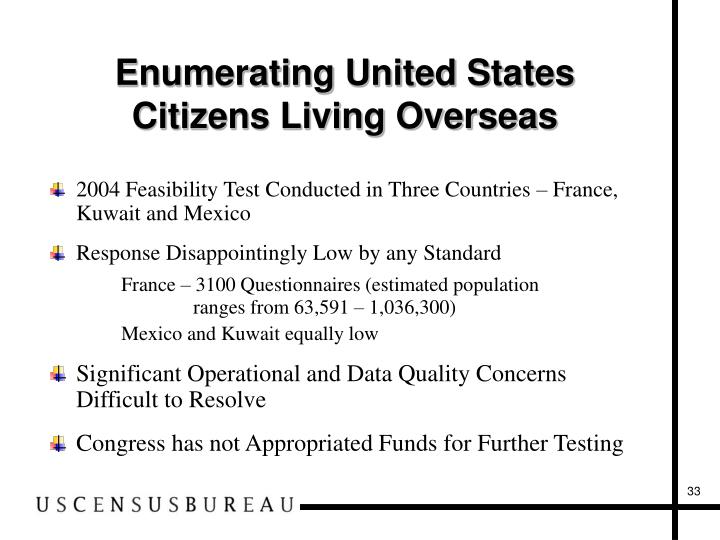Enumerating United States Citizens Living Overseas