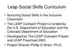 leap social skills curriculum