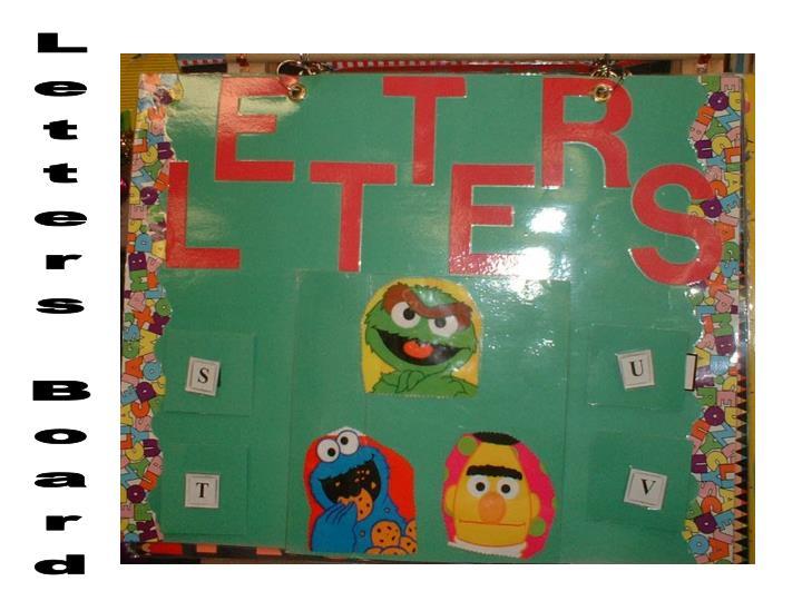 Letters Board