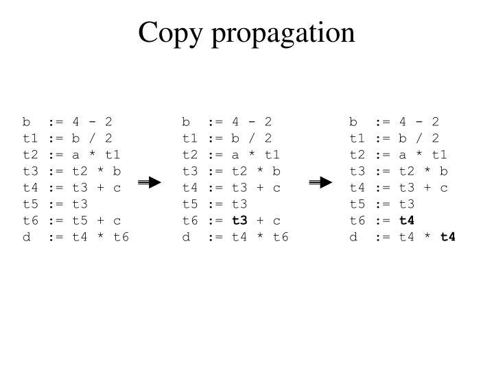 Copy propagation