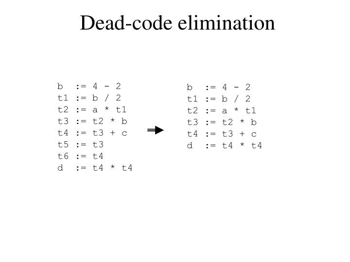 Dead-code elimination