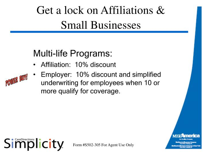 Get a lock on Affiliations &