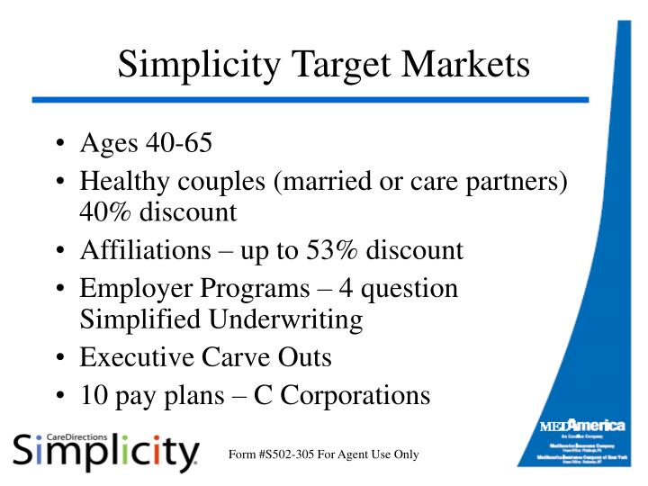 Simplicity Target Markets