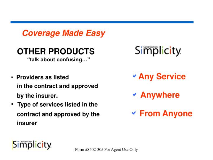 Coverage Made Easy