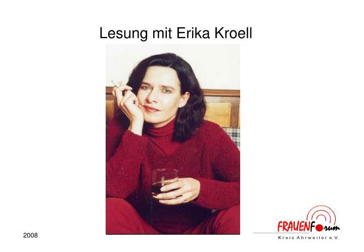 Lesung mit Erika Kroell