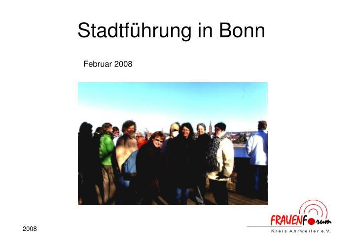 Stadtführung in Bonn