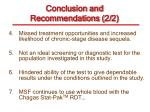 conclusion and recommendations 2 2