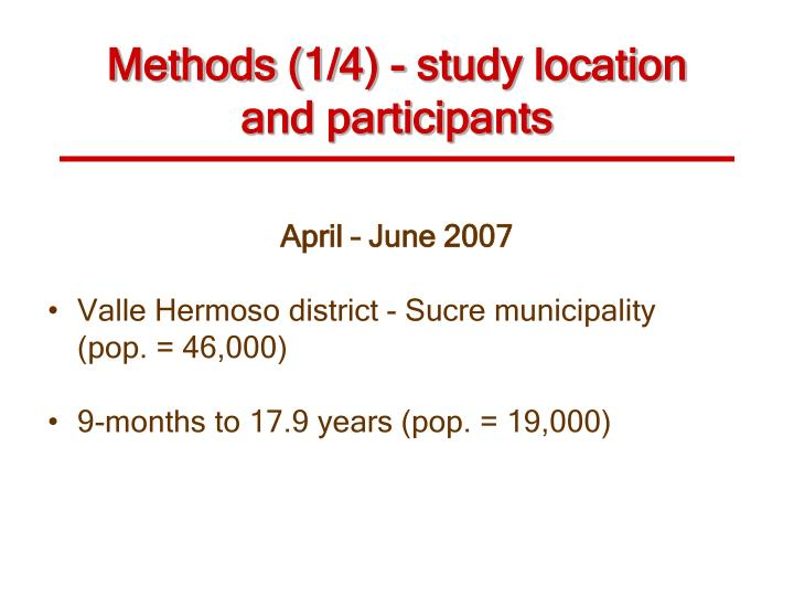 Methods (1/4) -