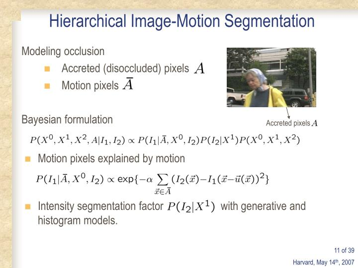 Hierarchical Image-Motion Segmentation