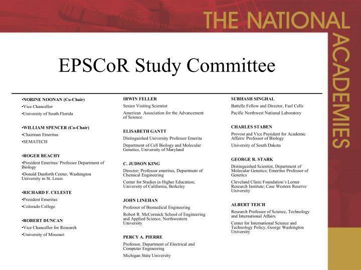 EPSCoR Study Committee