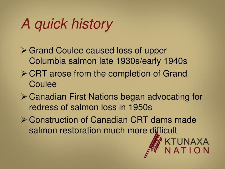 A quick history