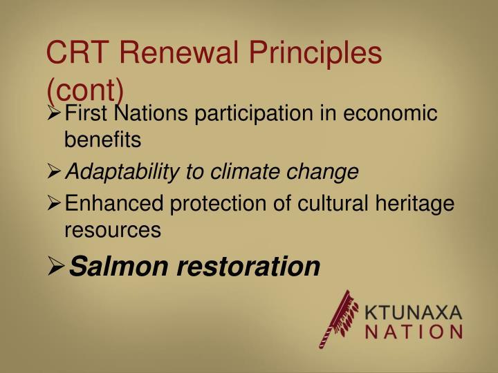 CRT Renewal Principles (