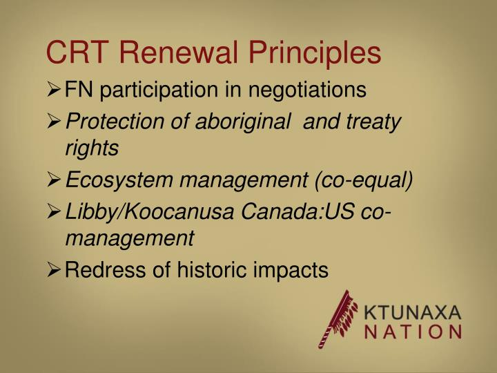 CRT Renewal Principles