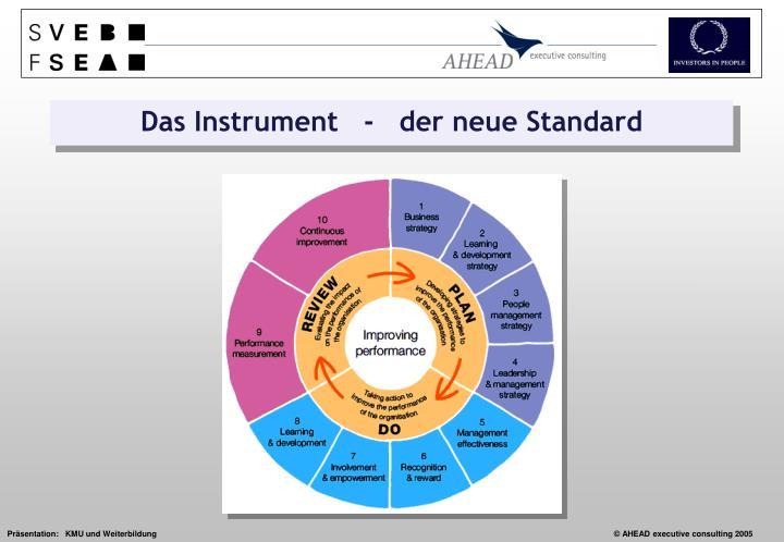 Das Instrument   -   der neue Standard