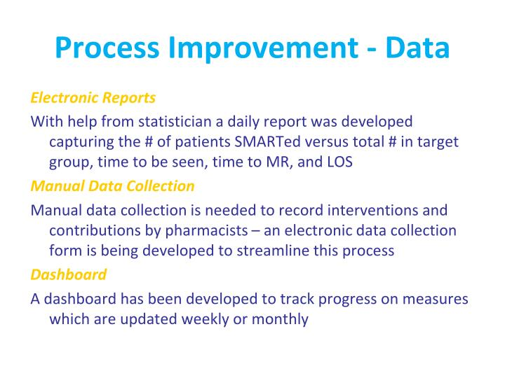 Process Improvement - Data