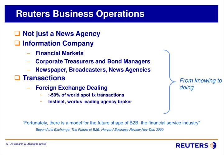 Reuters business operations