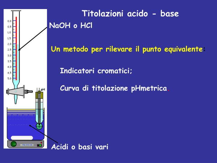Titolazioni acido - base
