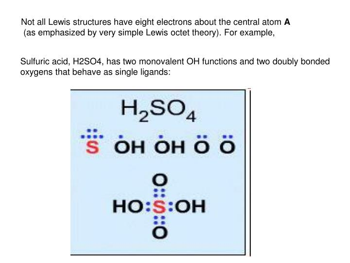 Not all Lewis structures have eight electrons about the central atom