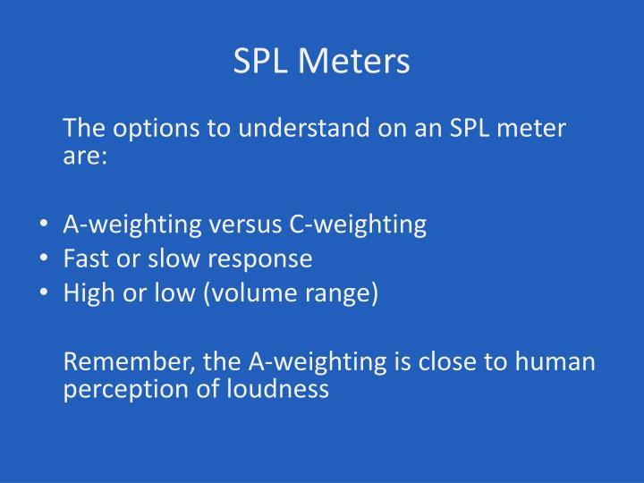 SPL Meters