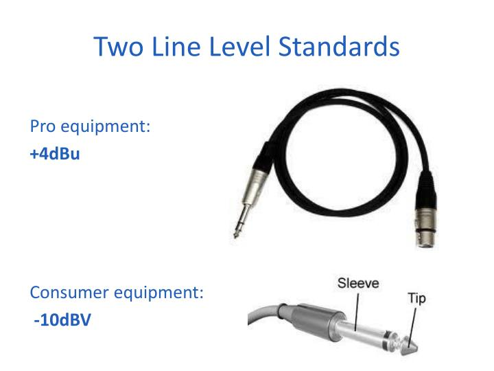 Two Line Level Standards