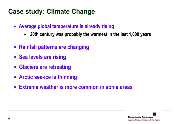 Case study: Climate Change