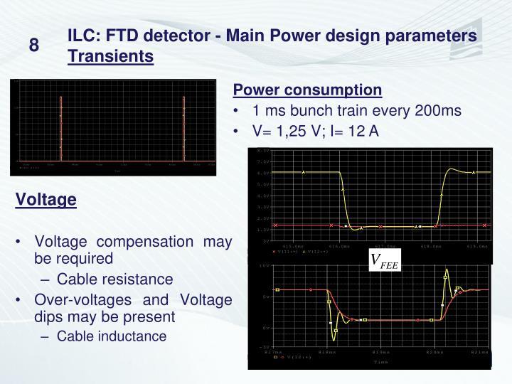 ILC: FTD detector - Main Power design parameters