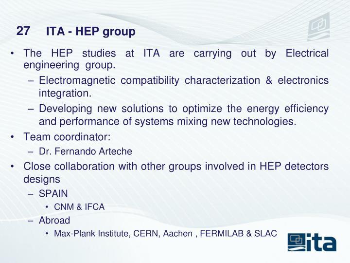 ITA - HEP group