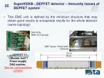 superkekb depfet detector immunity issues of depfet system1